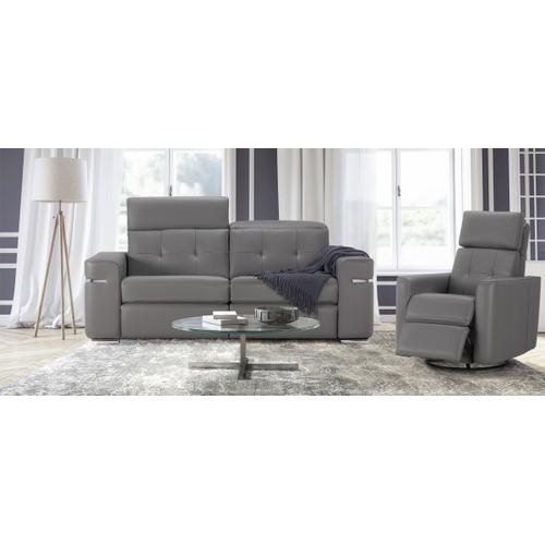 Alexandra Apartment Sofa (169-170) Swivel rocking motion chair (043)