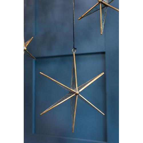 "Accent Decor - Guiding Star Ornament (Size:10.25""x 2.5""x 10.75"", Color:Gold)"