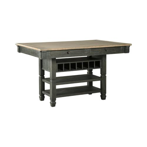 Tyler Creek Rect Dining Room Counter Table Black/Gray