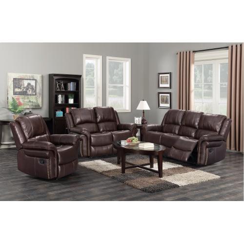 Reclining Living Room Set w/Sofa, Loveseat, Reclining Chair - Glorious (3 Piece)