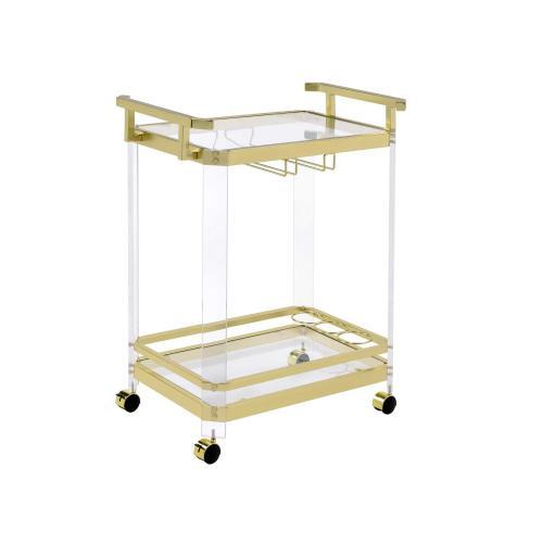 Aerin Server Cart, Gold