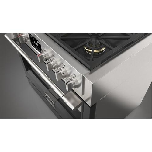 "36"" Dual Fuel Pro Range - Glossy Black"