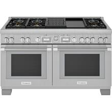 Dual Fuel Professional Range 60'' Pro Grand® Commercial Depth PRD606WCG