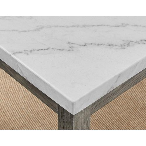 Gallery - Emily 5-Piece White Marble Dining Set (Table & 4 Side Chairs)