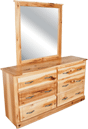 HT361 Hickory 6 Drawer Dre