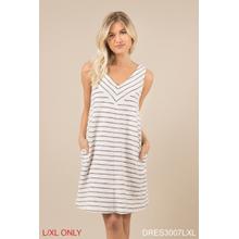 See Details - Terry Stripe Dress - L/XL (3 pc. ppk.)