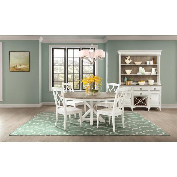 Riverside - Myra - Round Dining Table Top - Natural/paperwhite Finish