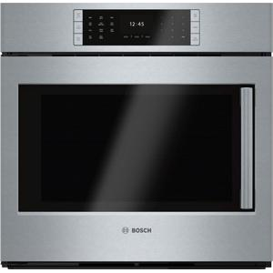 "BoschBenchmark® 30"" Single Wall Oven Left SideOpening Door, HBLP451LUC, Stainless Steel"