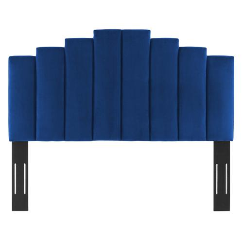 Noelle Performance Velvet Twin Headboard in Navy