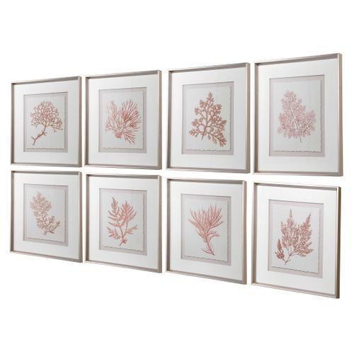 Uttermost - Sunrise Coral Framed Prints, S/8