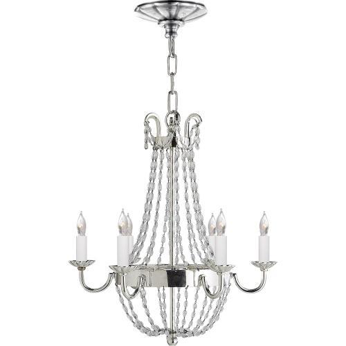 Visual Comfort CHC1407PS-SG E F Chapman Paris Flea Market 6 Light 16 inch Polished Silver Chandelier Ceiling Light