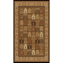 "Persian Design 1 Million Point Heatset Monalisa A Area Rugs by Rug Factory Plus - 2' x 7'5"" / Black"