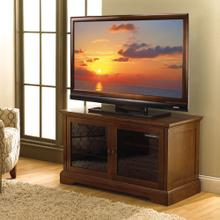 See Details - WAVS331 No Tools Assembly Medium Espresso Finish A/V Cabinet fits most TVs up to 46 inches from Bell'O International Corp.