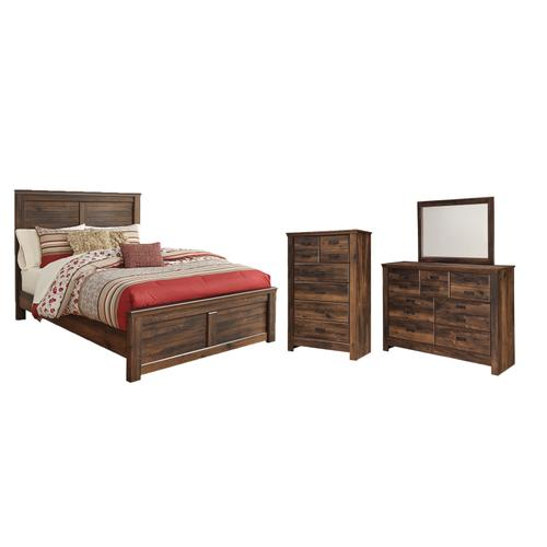 Ashley - Queen Panel Bed With Mirrored Dresser and Chest