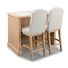 Claire 3 Piece Kitchen Island Set