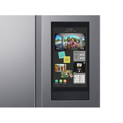 Samsung - 27.3 cu. ft. Smart Side-by-Side Refrigerator with Family Hub™ in Stainless Steel