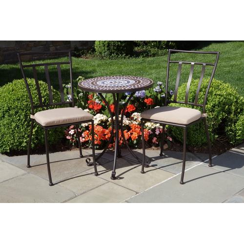 "Alfresco Home - Tremiti 20"" Rnd Side Table w/Cer Tile Top&Base"