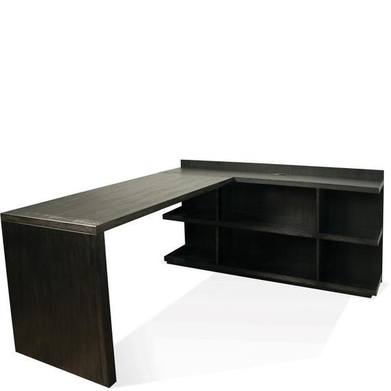 Riverside - Perspectives - Return Desk - Ebonized Acacia Finish