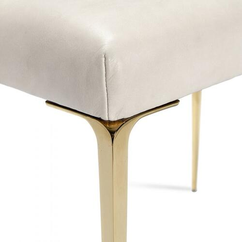 Stiletto Stool - Cream/ Brass