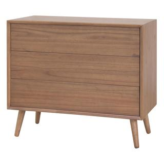 Henley KD Chest 3 Drawers Wooden Legs, Newton Brown