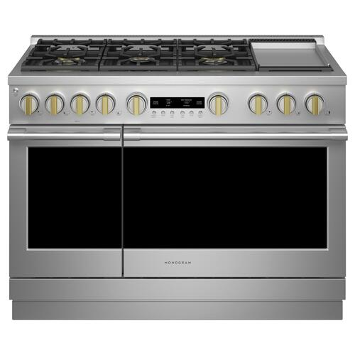 "Monogram 48"" Dual-Fuel Professional Range with 6 Burners and Griddle (Natural Gas) - Coming Spring 2021"