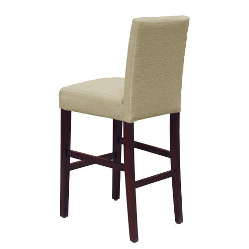 Nailhead Trim Upholstered Barstool in Beige