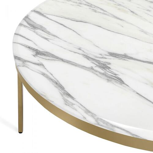 Camilla Cocktail Table - Arabescato/ Bra