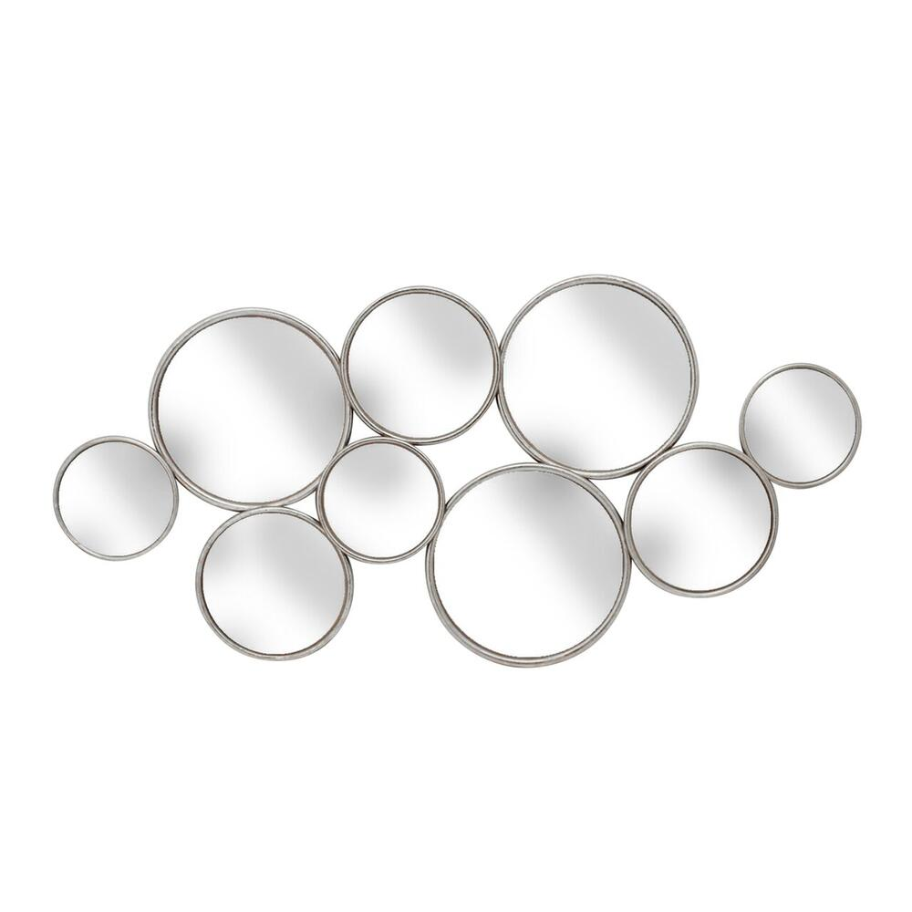 "See Details - Metal 47.5"" Mirror, Silver Wb"