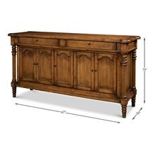 See Details - Ashton Sideboard W/2 Drawers, Brown