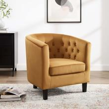 Prospect Performance Velvet Armchair in Cognac