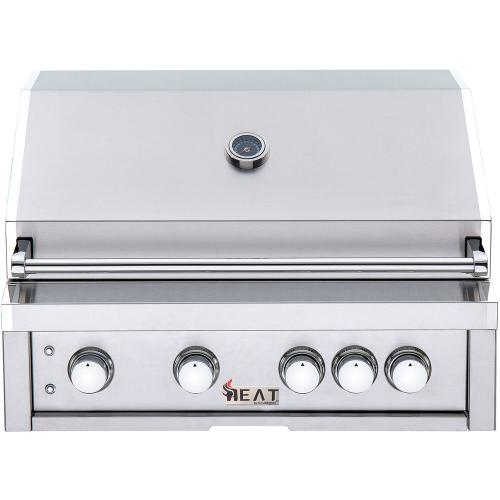 "HEAT 32"" 4-Burner Gas Grill w/ Infrared Burner - NG"