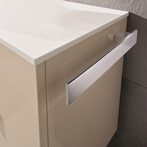 """Blu Bathworks - 15 3/4"""" towel bar for 45° + 51 vanities, polished finish"""
