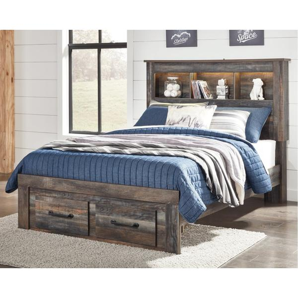 Drystan Full Bookcase Bed With 2 Storage Drawers