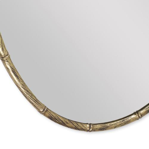 Bamboo Oval Mirror