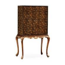 See Details - Black Chinoiserie Drinks Cabinet