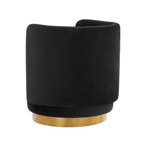 Tov Furniture - Remy Black Velvet Swivel Chair