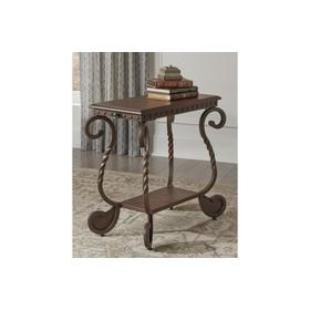 Rafferty Chair Side End Table Dark Brown