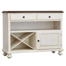 Product Image - Server - Antique White w/Chestnut Top