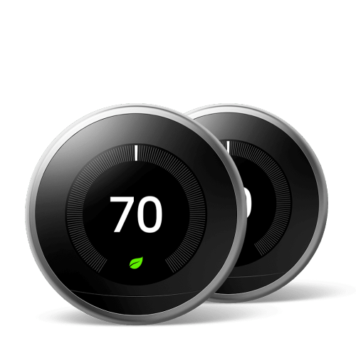 Nest Learning Thermostat 3rd Gen Stainless Steel 2 Pack