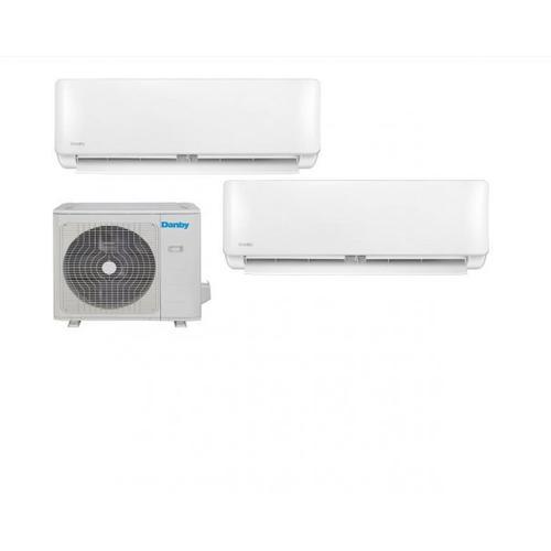 Danby - Danby 18,000 BTU Mini-Split Air Conditioner with dual Air Handlers; Heat pump and variable speed inverter