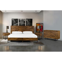 Cusco 4 Piece Acacia Queen Bedroom Set with Dresser and Nightstands