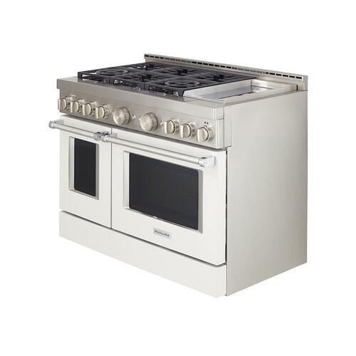 KitchenAid® 48'' Smart Commercial-Style Gas Range with Griddle - Milkshake