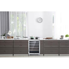 Hanover Grandeur Series 24-In. Single Zone Wine Cooler with 54-Bottle Capacity and Reversible Door Hinge, HWC60301-3SS