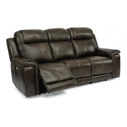 Kingsley Power Reclining Sofa with Power Headrests & Lumbar