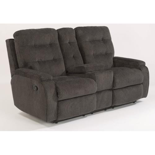 Product Image - Kane Fabric Reclining Loveseat with Console