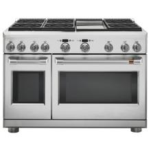 "Café 48"" Dual-Fuel Commercial-Style Range with 6 Burners and Griddle (Natural Gas)"