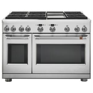 "Cafe48"" Dual-Fuel Commercial-Style Range with 6 Burners and Griddle (Natural Gas)"