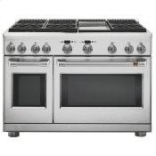 "48"" Dual-Fuel Commercial-Style Range with 6 Burners and Griddle (Natural Gas)"
