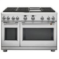 """48"""" Dual-Fuel Commercial-Style Range with 6 Burners and Griddle (Natural Gas)"""
