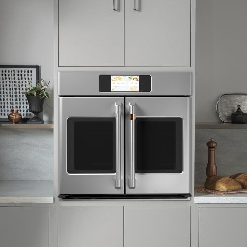 "Café 30"" Built-In French-Door Single Convection Wall Oven Stainless Steel"